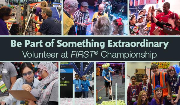 Volunteer at FIRST Championship