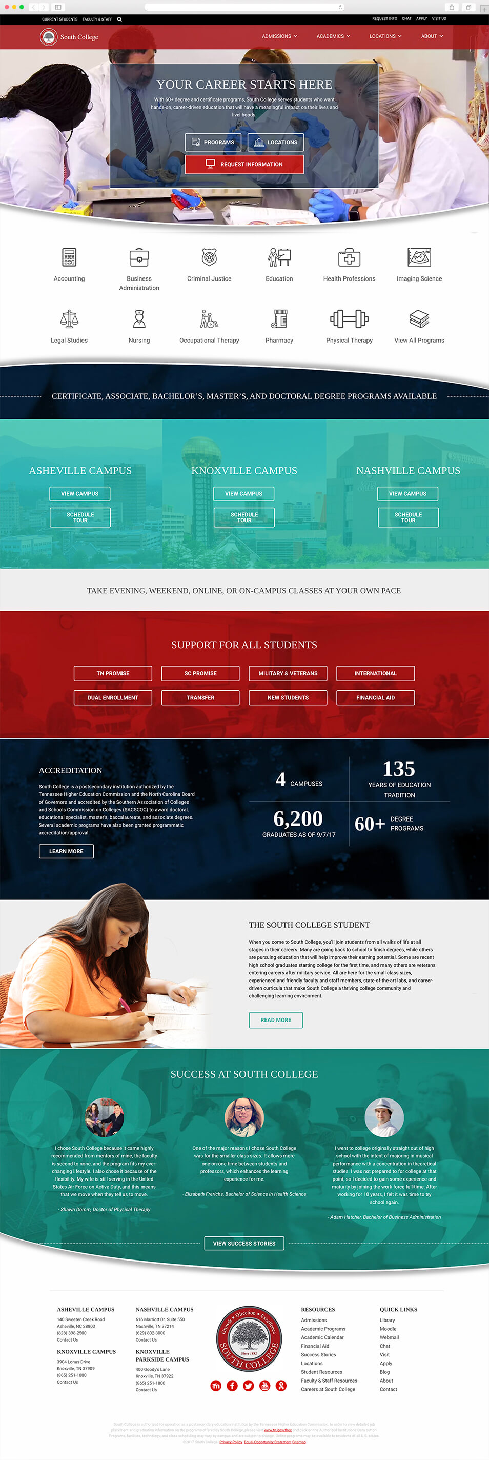 South College Website Design & Growth-Driven Marketing