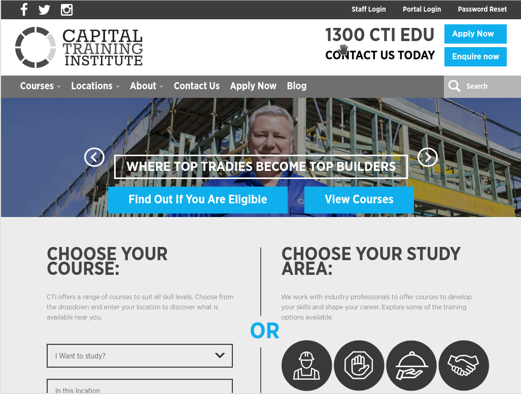 capital training institute website