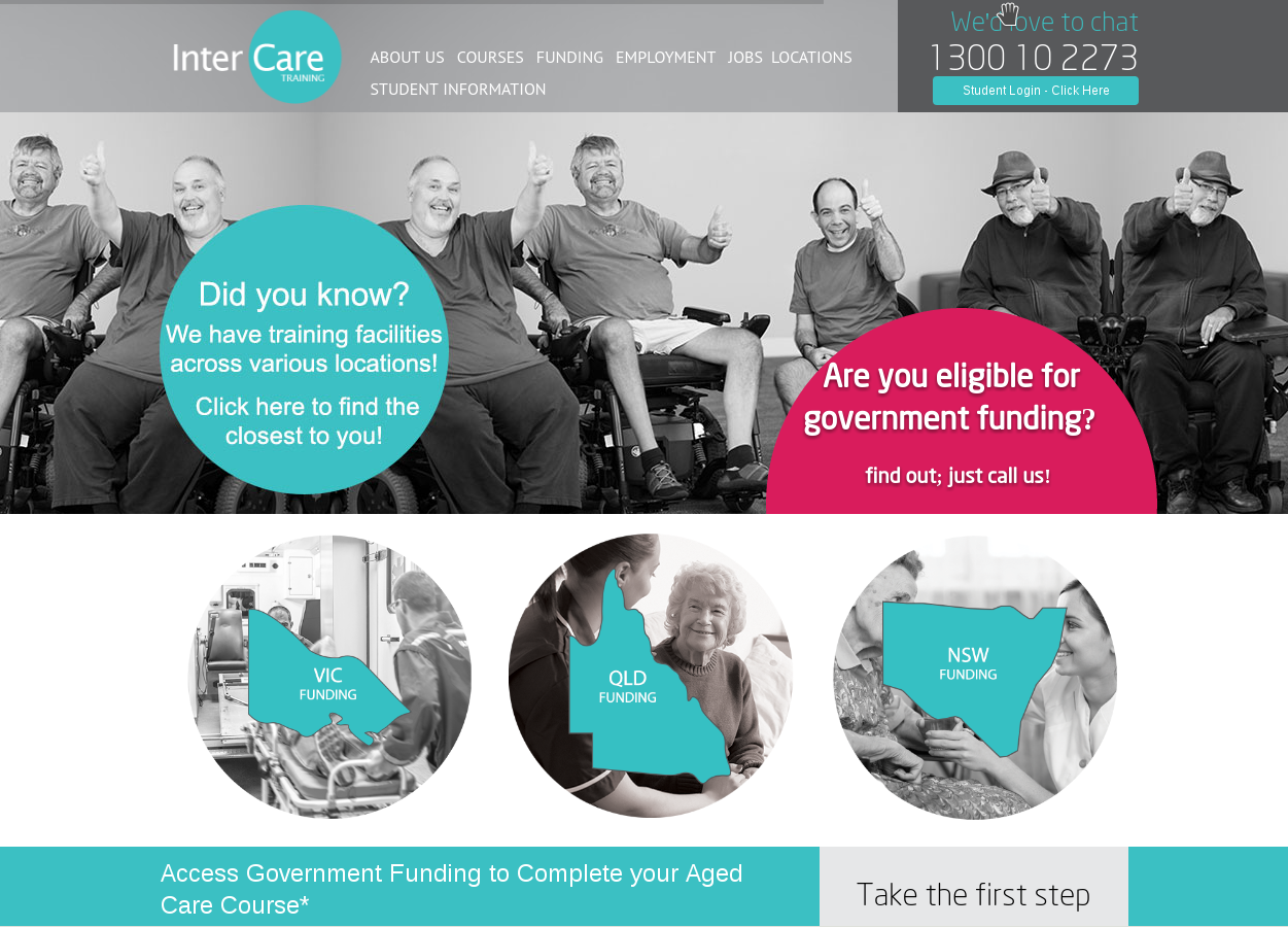 intercare training website