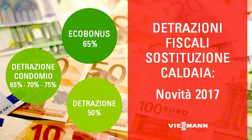 Detrazioni fiscali sostituzione caldaia novit 2017 for Detrazioni fiscali per ristrutturazione 2017