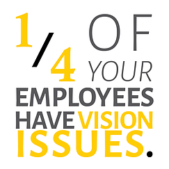 1/4 of your employees have vision issues