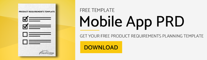 How To Build A Mobile App Requirements Document Free Template
