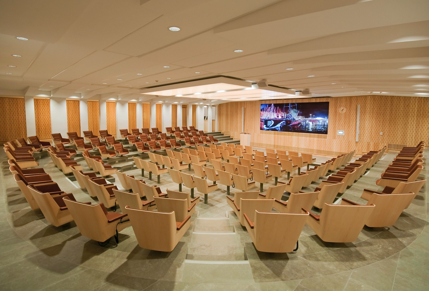 Prysm LPD Selected as AV Centerpiece for the Wallenberg Auditorium.