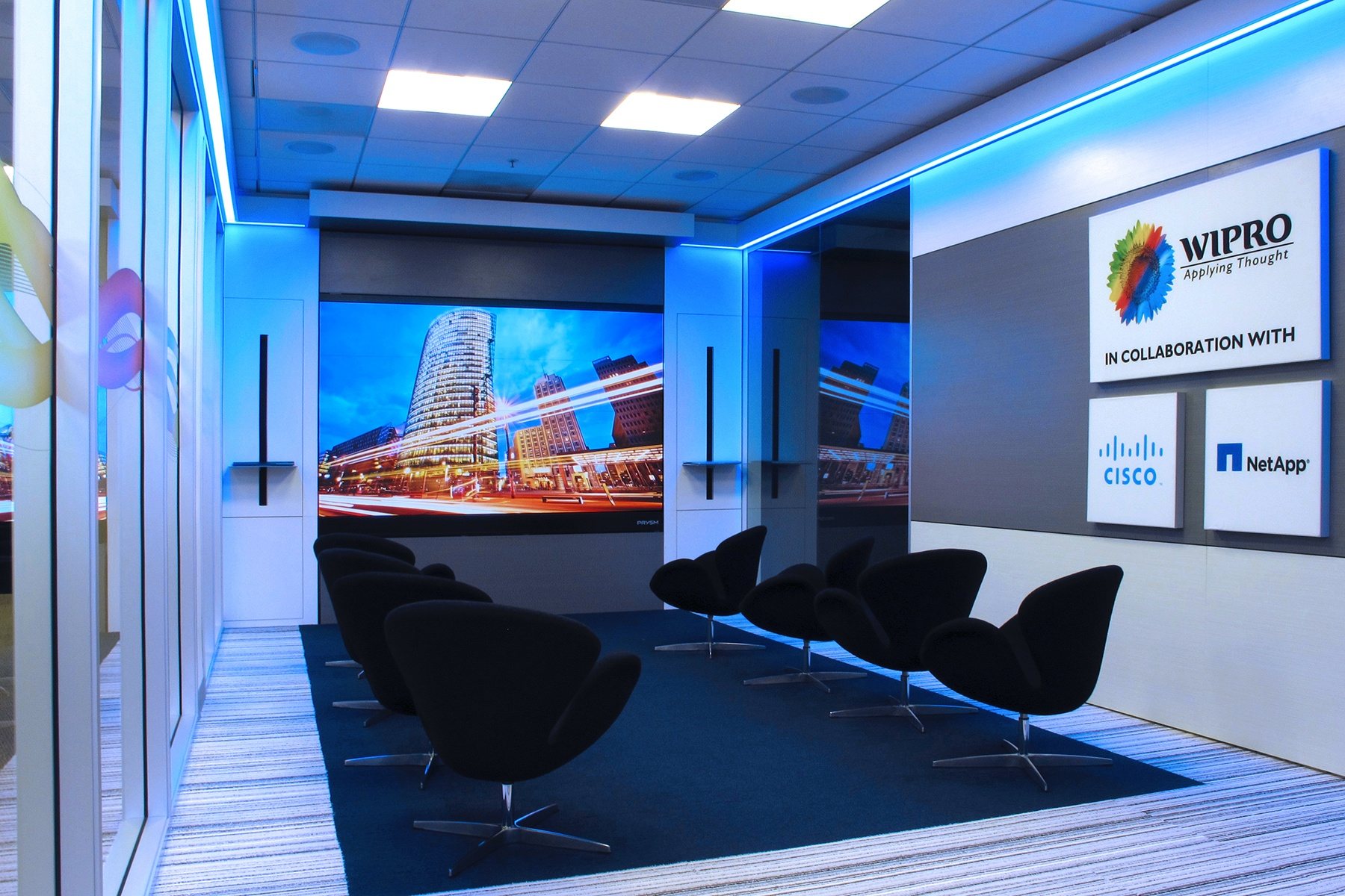 Prysm Video Wall Brings New Collaboration Capabilities to Wipro