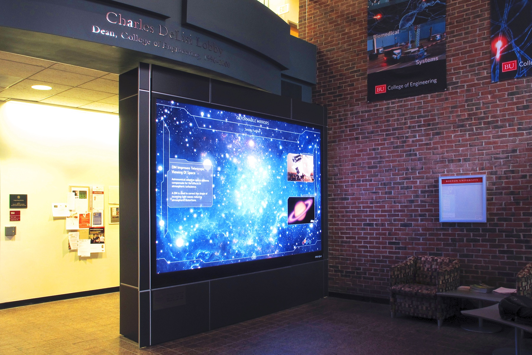 Boston University Unveils Prysm Video Wall Solution at College of Engineering 50th Anniversary