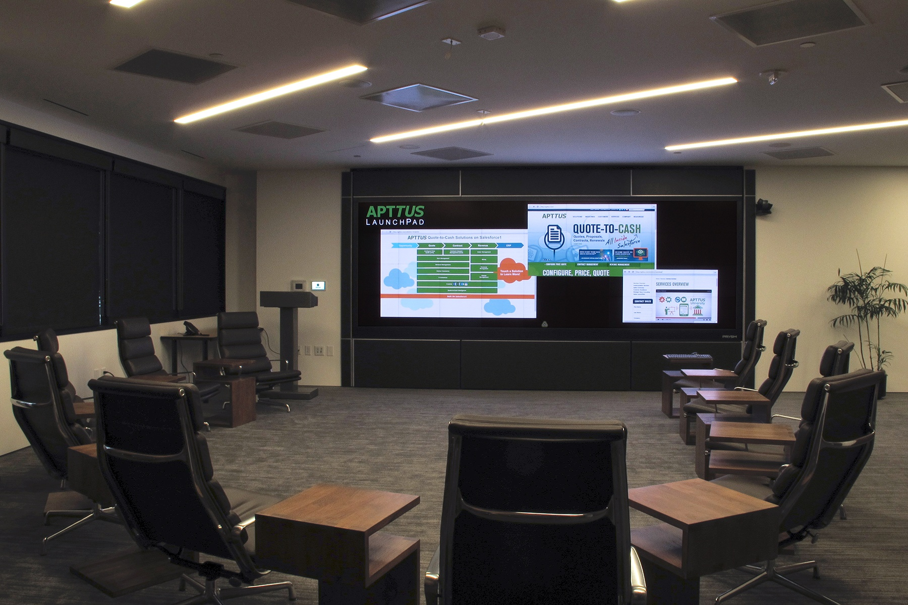 Apttus Delivers Impact with Cascade Collaboration Video Wall from Prysm
