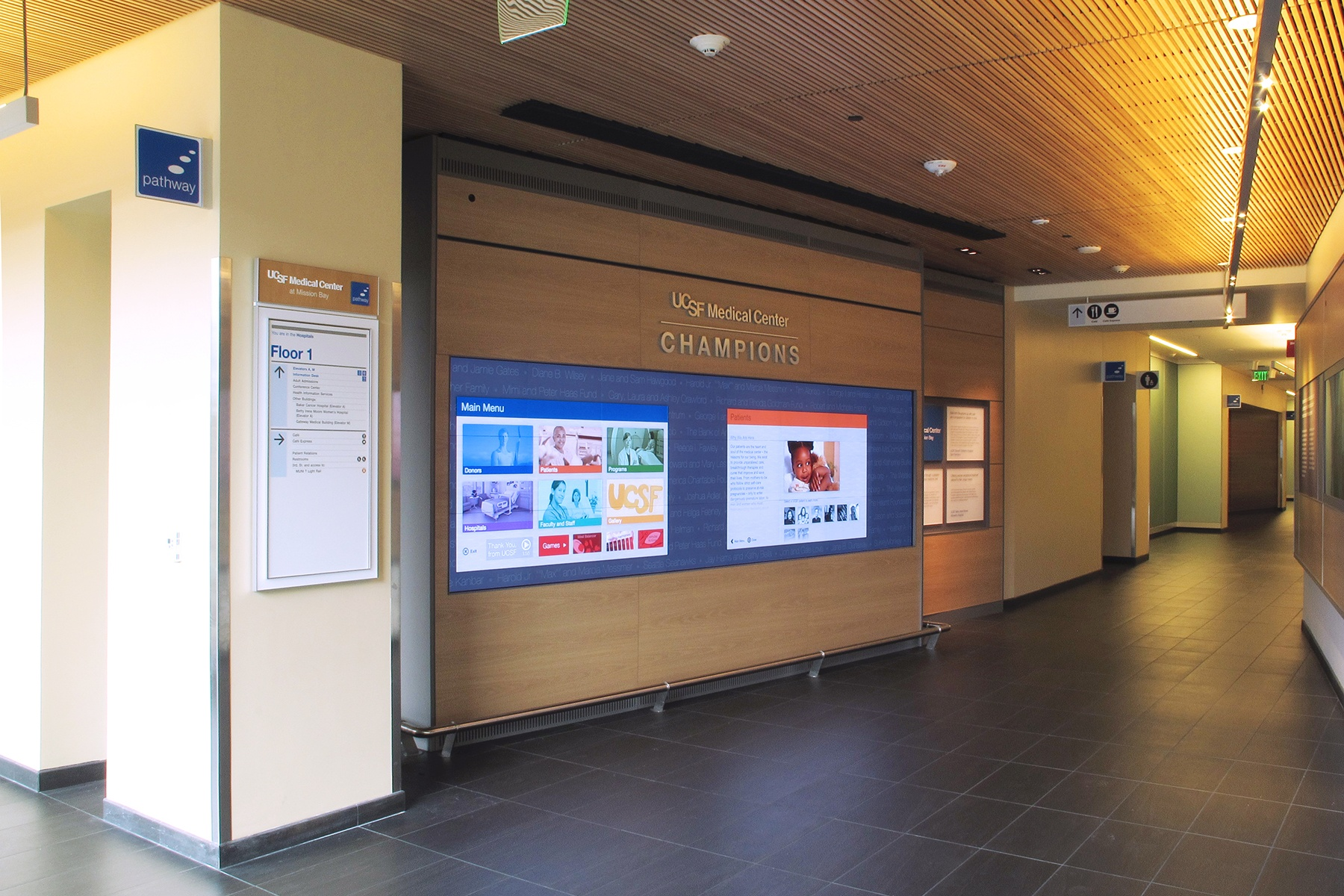 UCSF Medical Center Selects Prysm Video Wall for Donor Recognition.