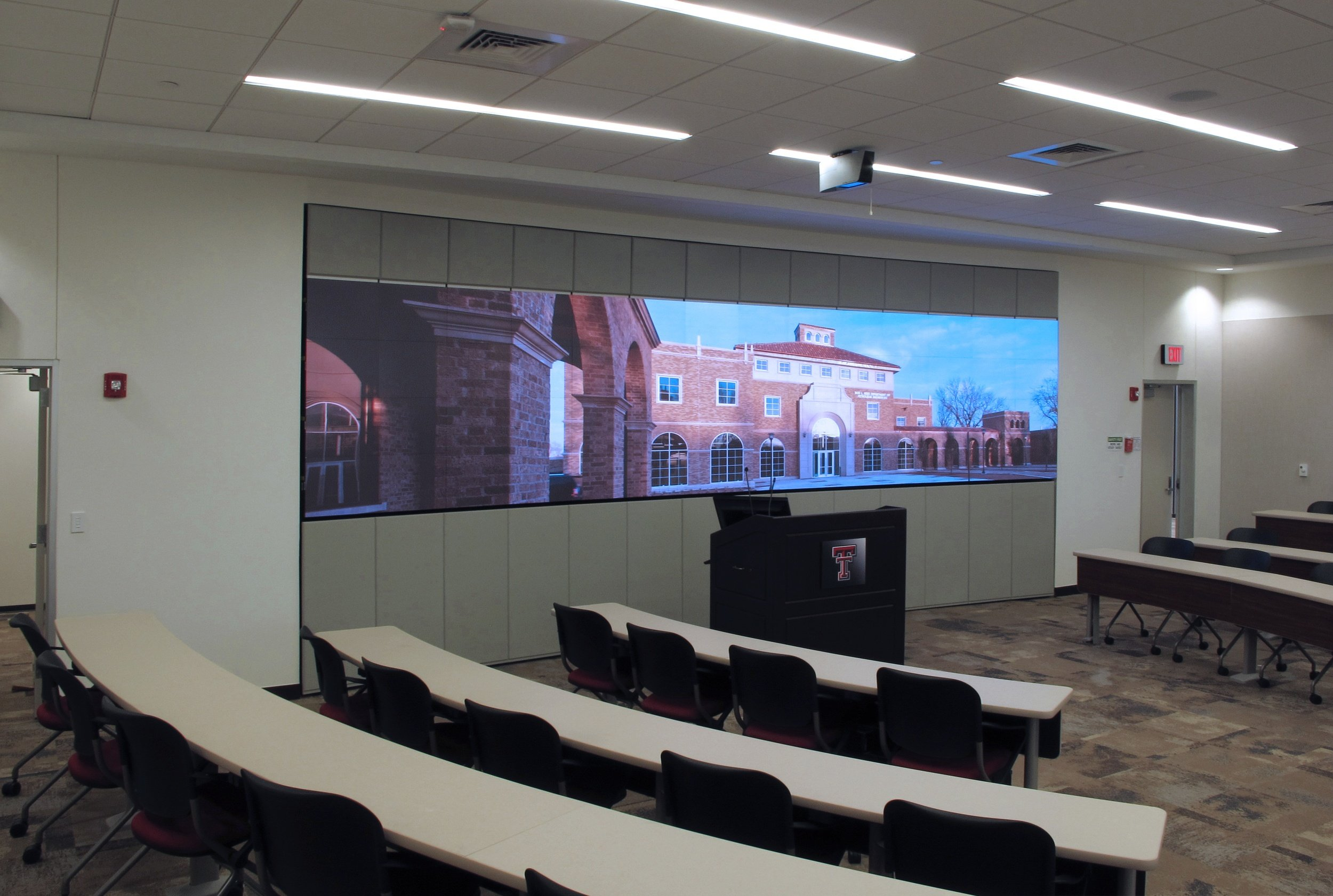 """Texas Tech's """"Smart"""" Learning Auditorium Enlightened with Prysm Video Walls"""