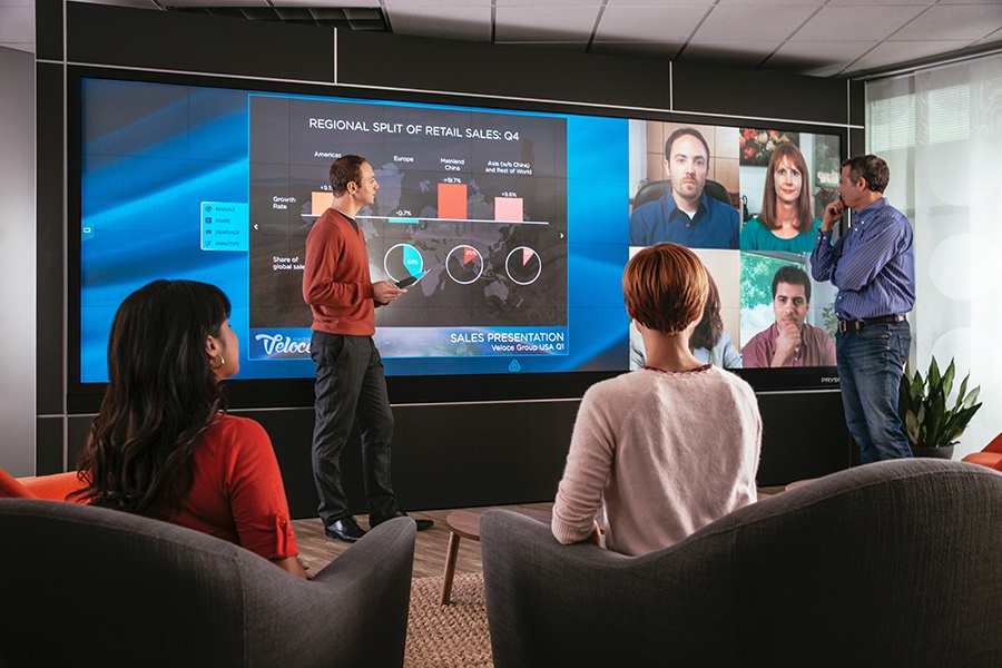 Prysm Cascade Collaboration Solution & Olympic Video Walls at InfoComm 2015