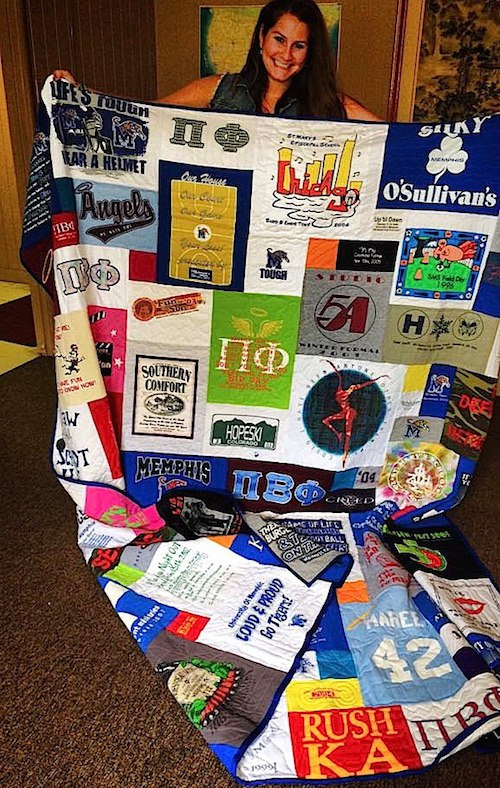 3 Ways to Divide T-shirts for a Double-Sided Quilt : double sided quilt - Adamdwight.com