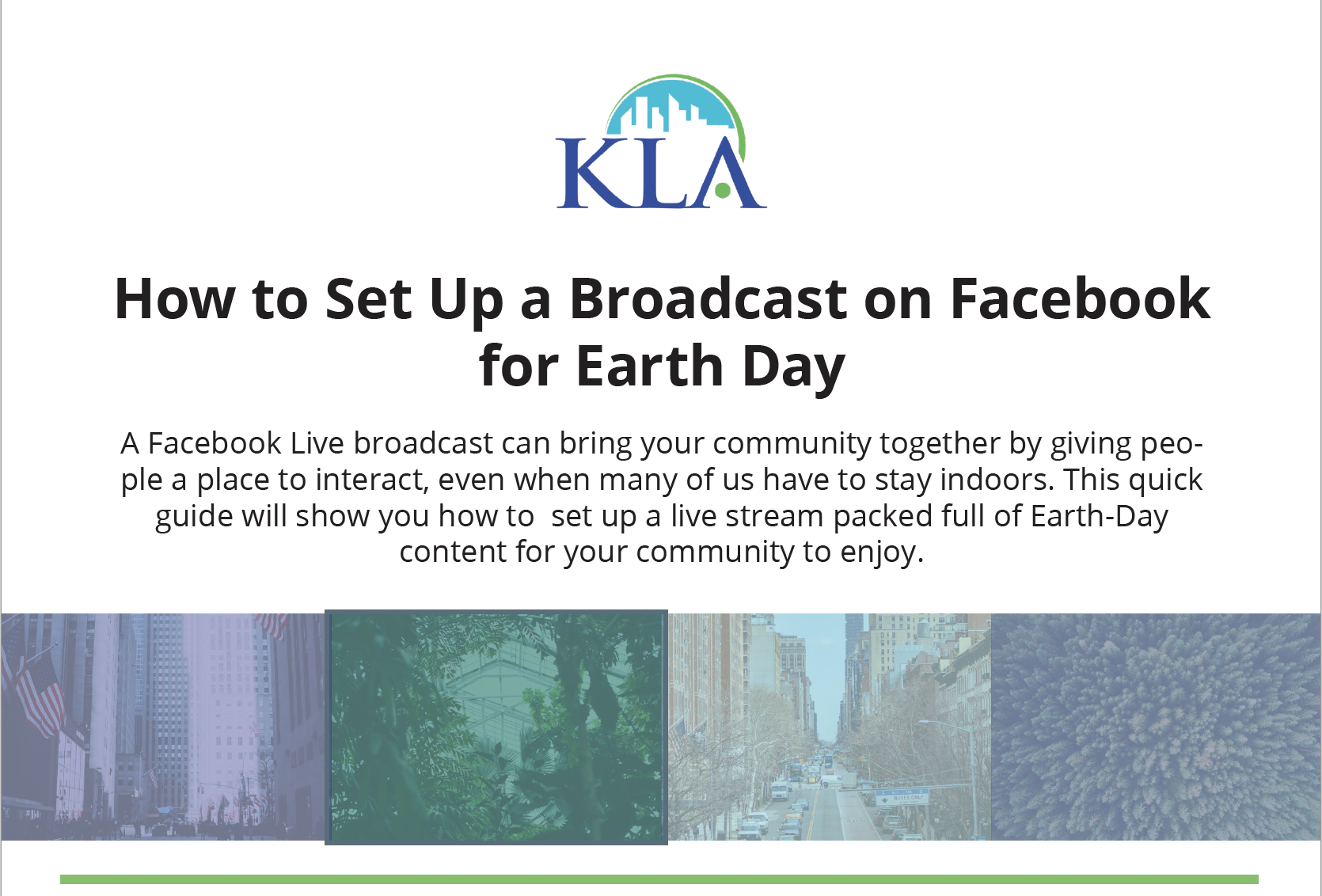 KLA Earth Day LiveStream