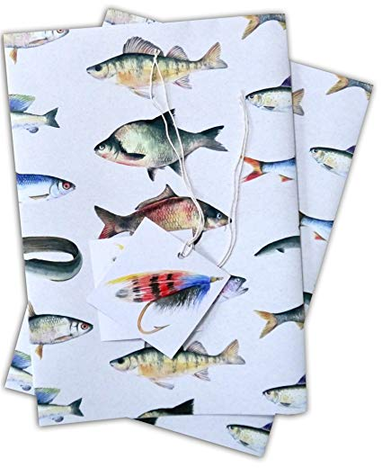 Fishing wrapping paper 2
