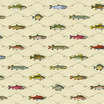 Fishing wrapping paper