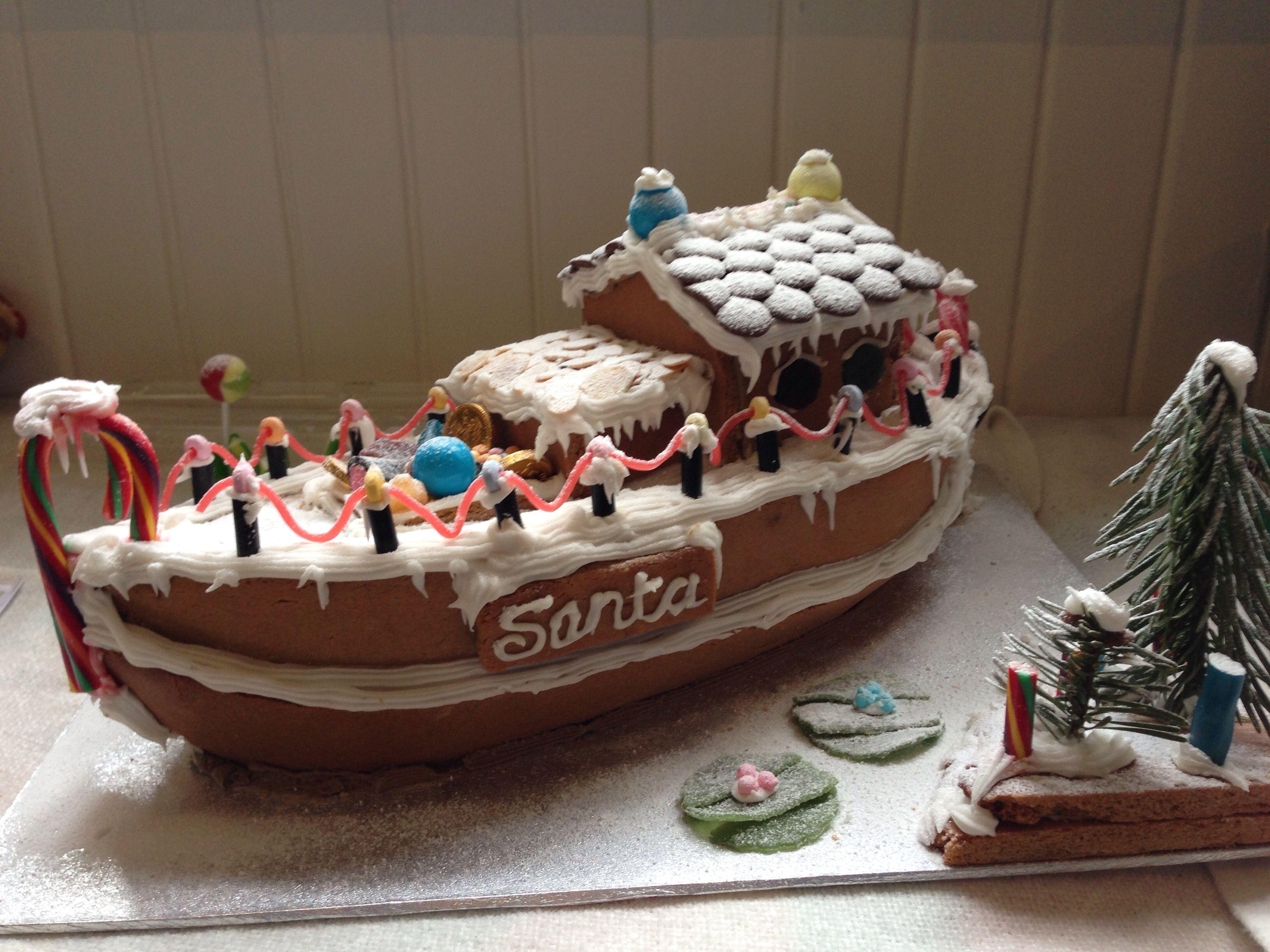 Gingerbread boat 2
