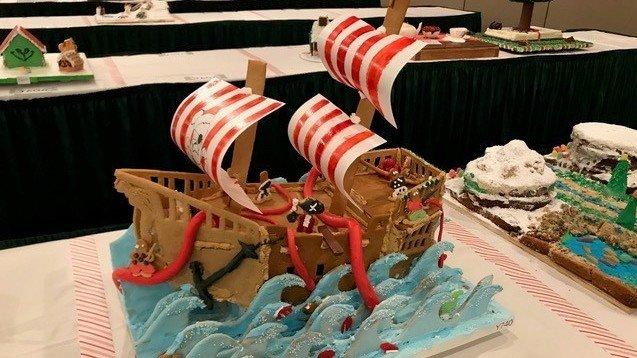 gingerbread boat