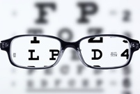 glasses and eye chart