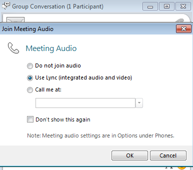 Conducting meetings directly from Lync Online in Office 365