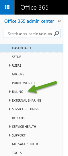 How to Change Your Office 365 Billing Information