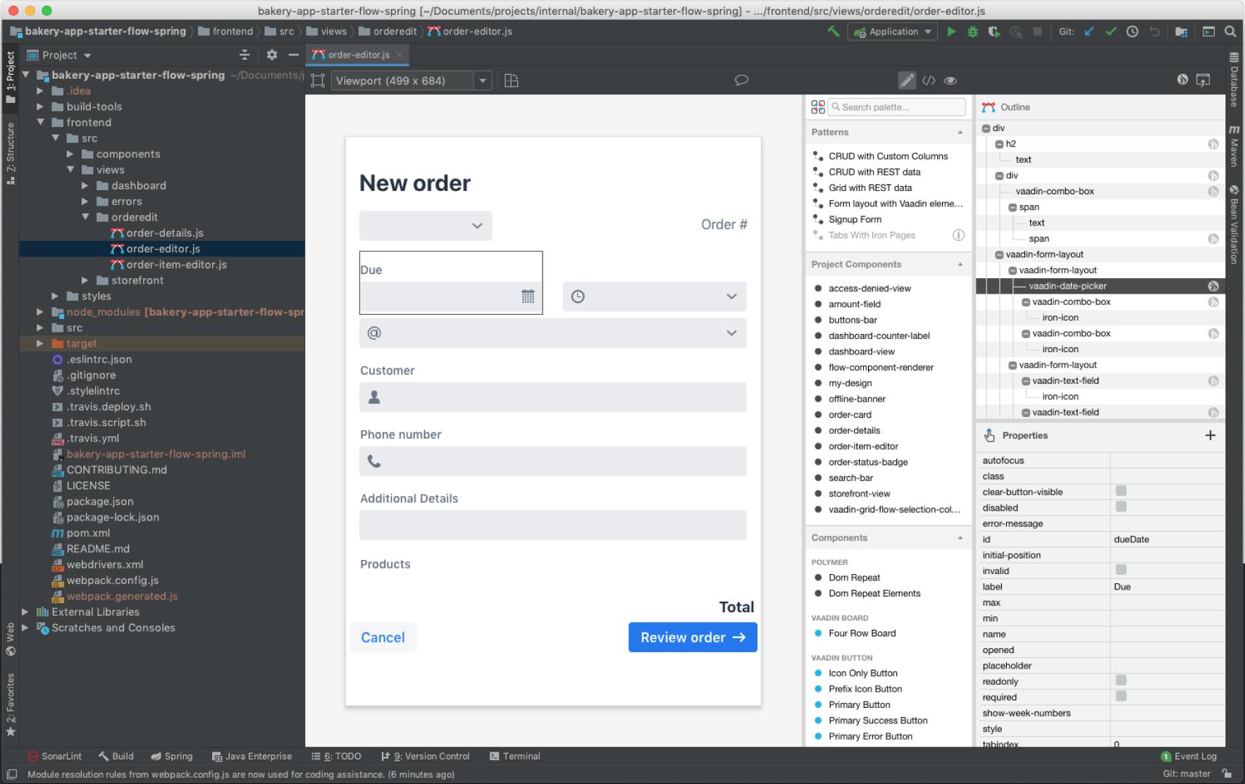 Vaadin Designer – A drag and drop web app builder