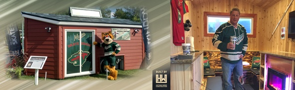 Official Minnesota Wild 'Skate Shack' Warming House & Autographed Gear Giveaway