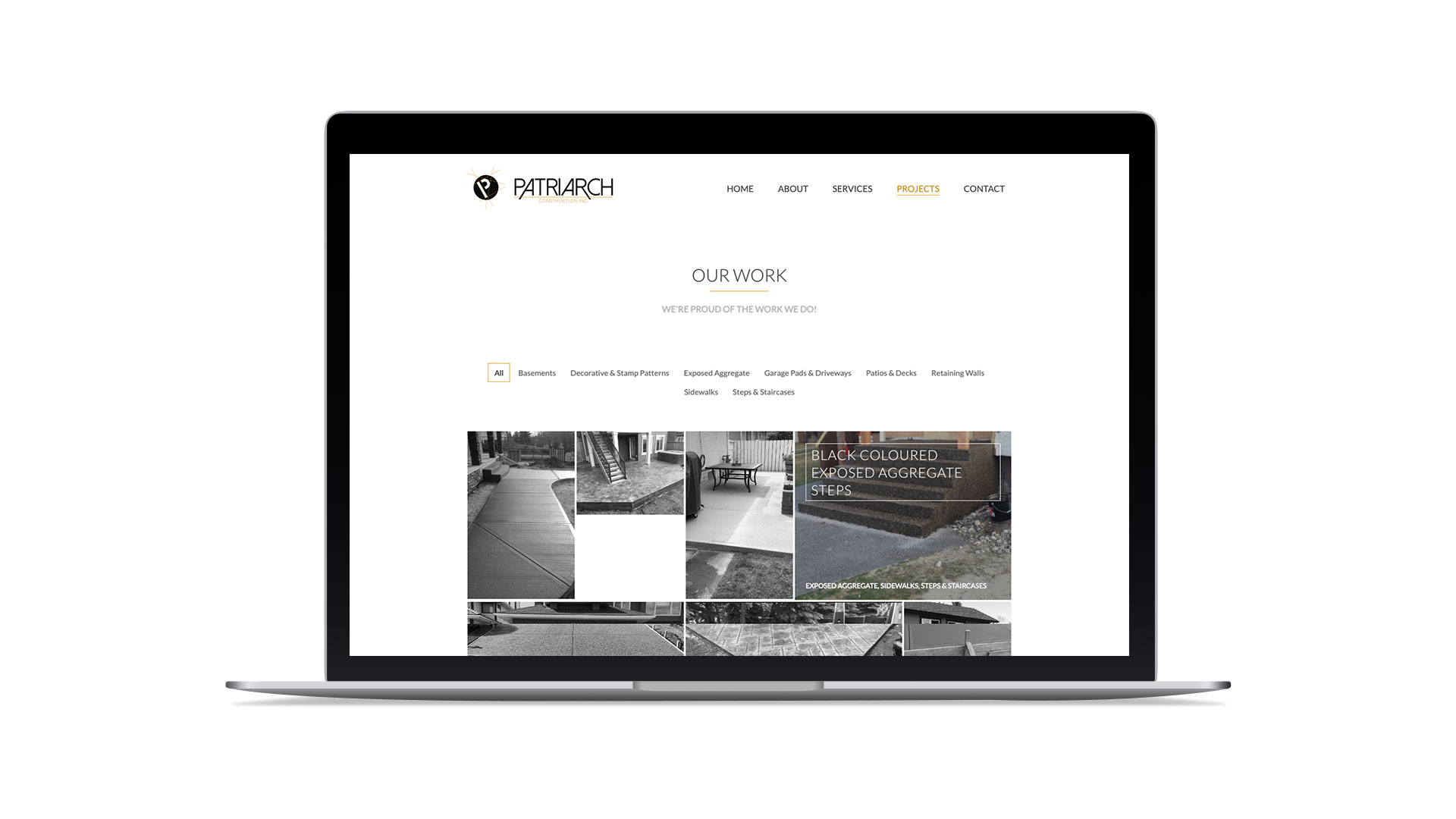 Website Design & Development for Patriarch Construction