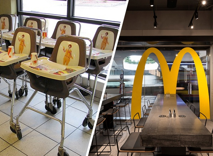 Mcdonalds Interior Design fast food interior design through the years: mcdonald's