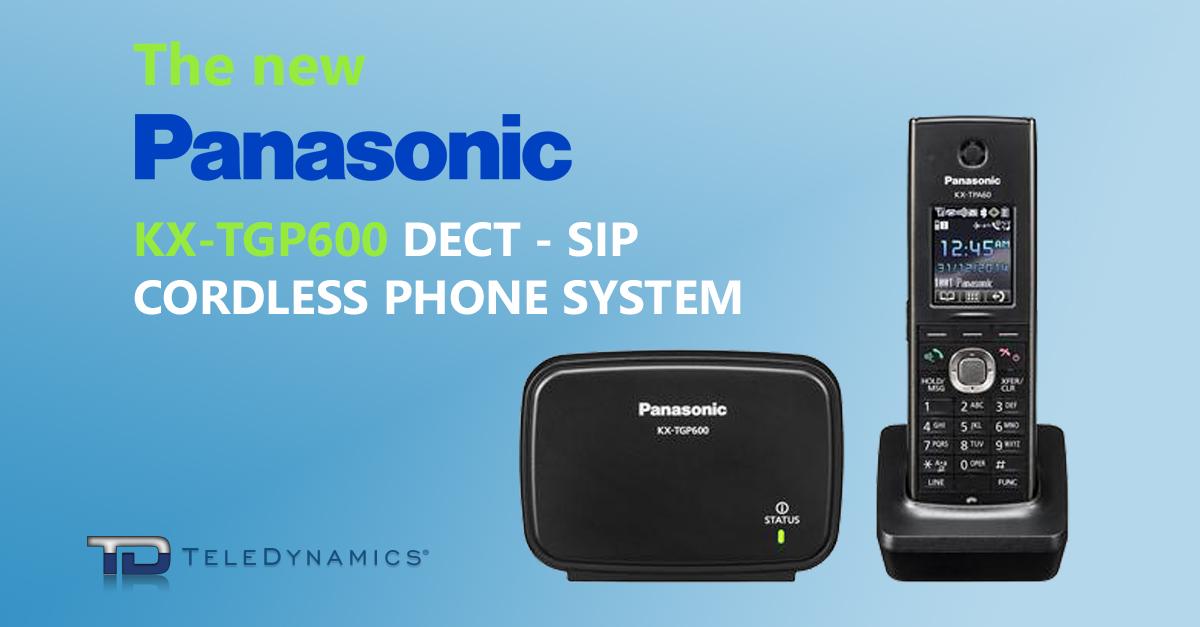 Panasonic KX-TGP600 8 Line DECT Cordless VoIP SIP IP Phone Color TFT Display