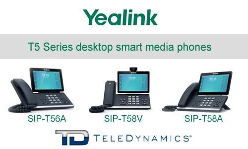 Introducing Yealink's exciting new T5 smart media phones