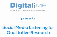 DigitalMR presents: Social Media Listening for Qualitative Research
