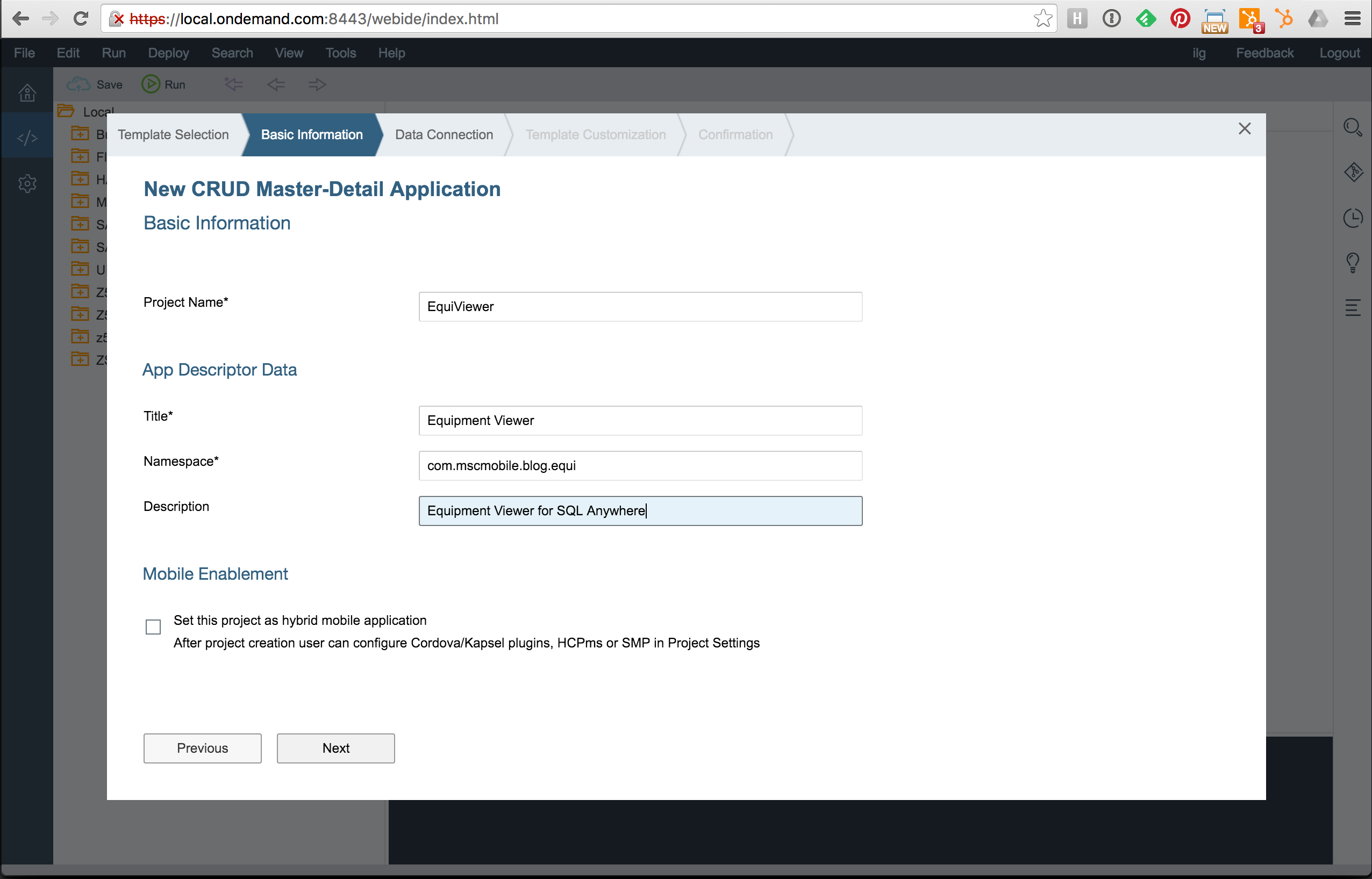 How to use SQL Anywhere as OData Provider to build a UI5 app with