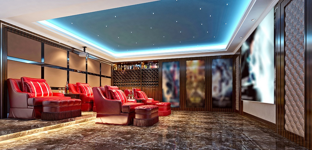 basement home theater layout