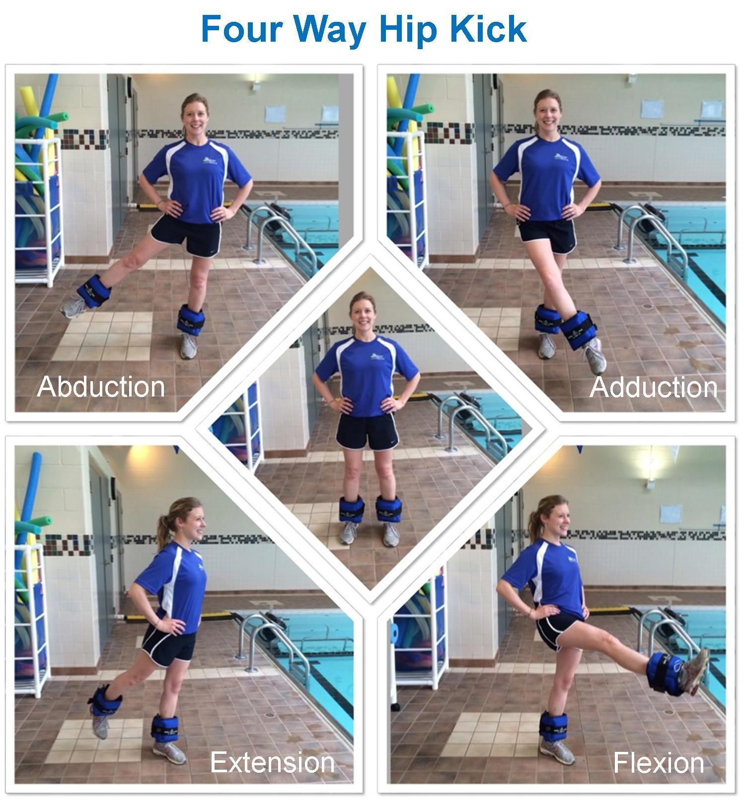 Four way hip kick