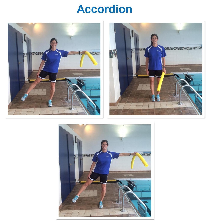 Aquatic Pilates Side Accordion Exercise