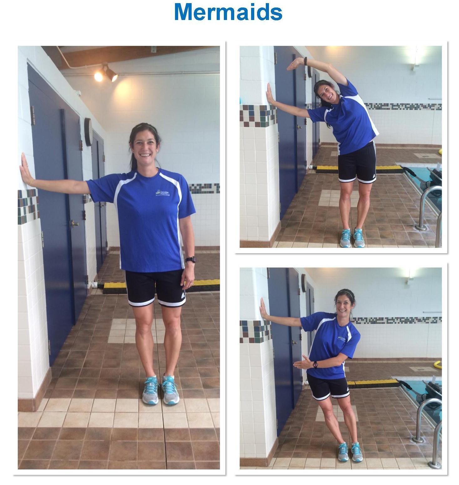 Aquatic Pilates Mermaid Exercise