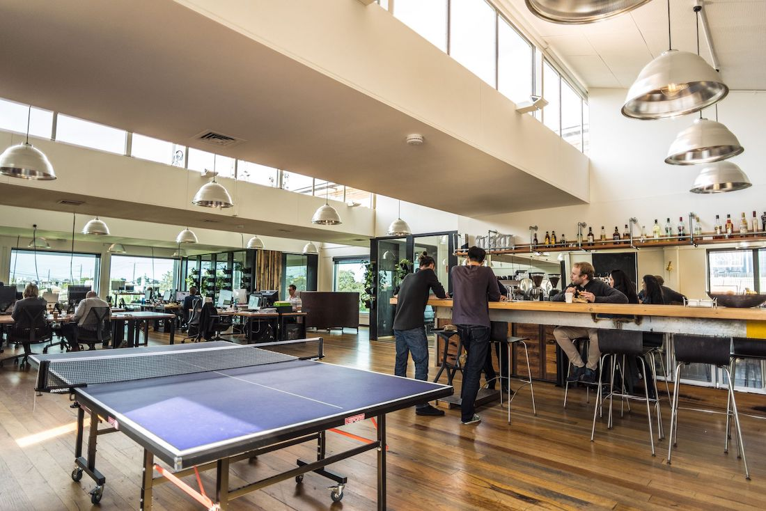 Photo: Table tennis and bar area