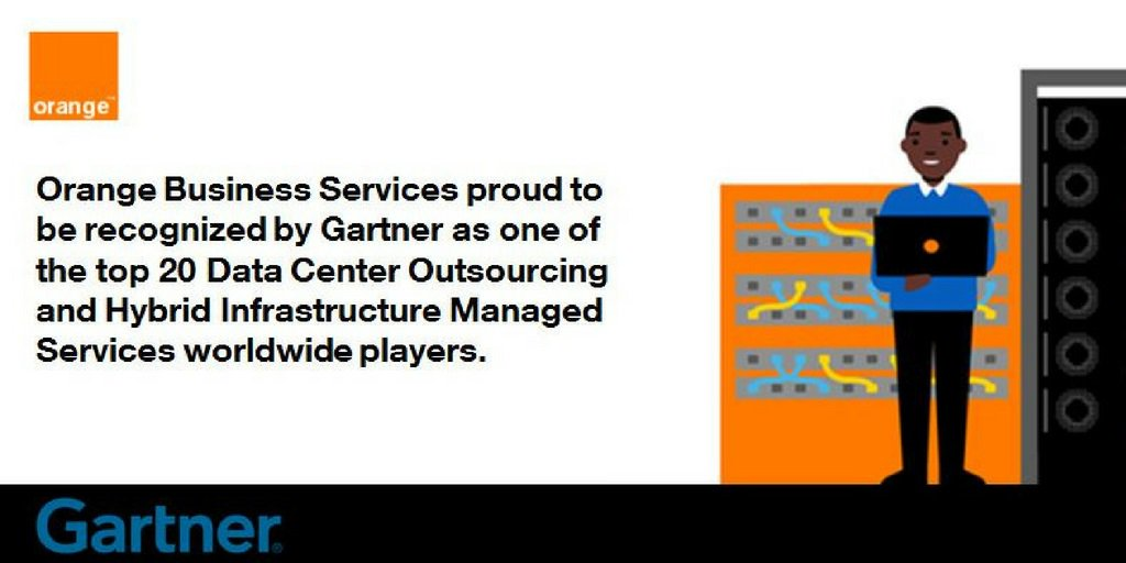 "Orange Business Services positioniert sich zum zweiten Mal in Folge unter den wichtigsten Wettbewerbern in Gartners ""Magic Quadrant for Data Center Outsourcing (DCO) and Hybrid Infrastructure Managed Services (HIMS), Europe""."