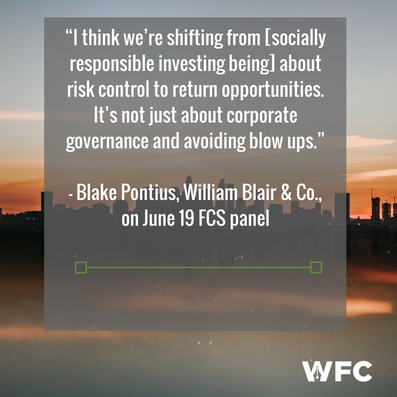 """""""I think we're shifting from it's about risk control to return opportunities,"""" Pontius said. """"It's not just about corporate governance and avoiding blow ups."""""""