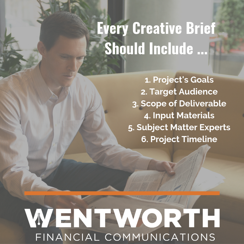 Every Creative Brief Should Include ...