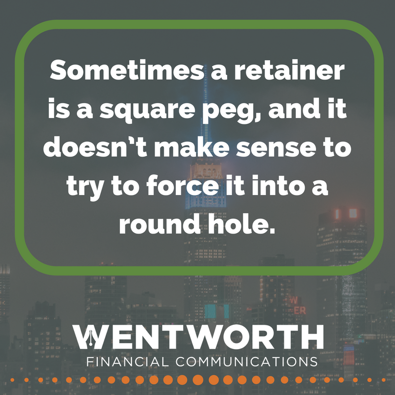 Sometimes a retainer is a square peg, and it doesn't make sense to try to force it into a round hole.