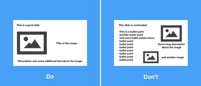 Tip 2: Limit text and bullet points in your slides