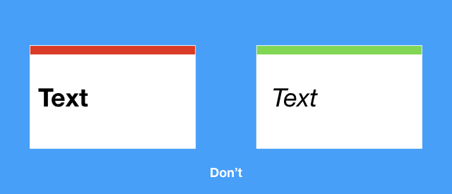 This is an example of slides with different themes. Avoid this in your presentation.