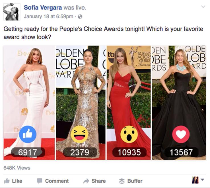 Facebook reaction polls