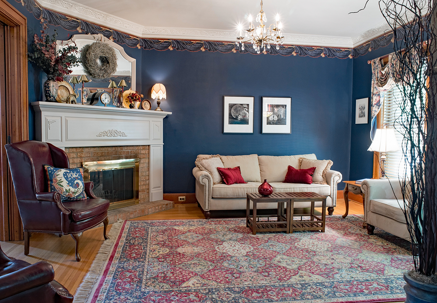 Use These Tips to Add Nay Blue to Your Living Room