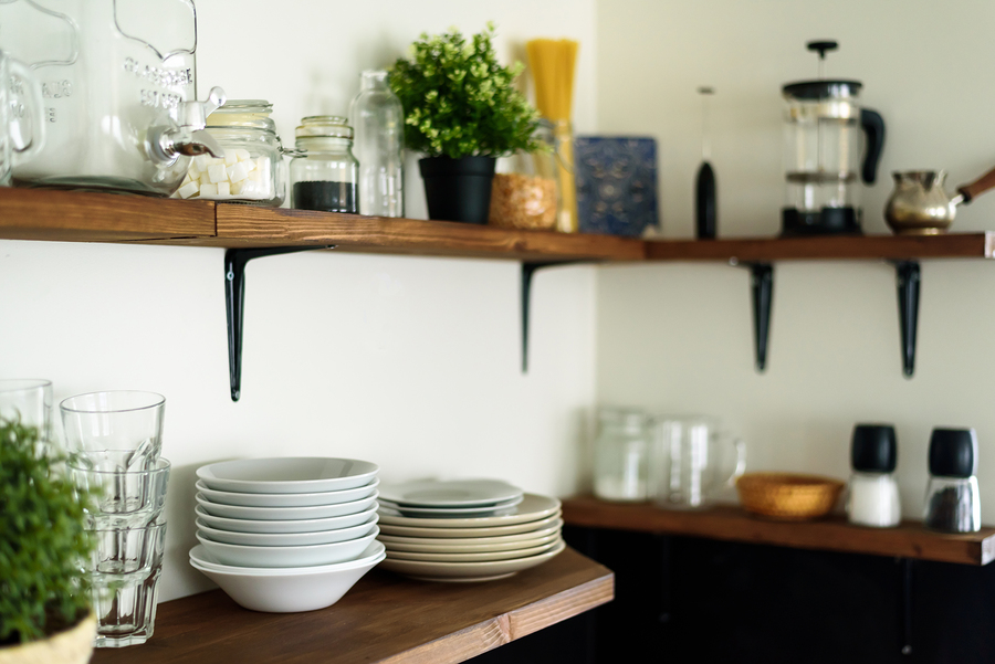 Think About These Factors Before Deciding on Open Shelving for Your Kitchen