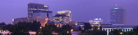 Columbia SC skyline where we offer commercial, hoarder and other cleaning.