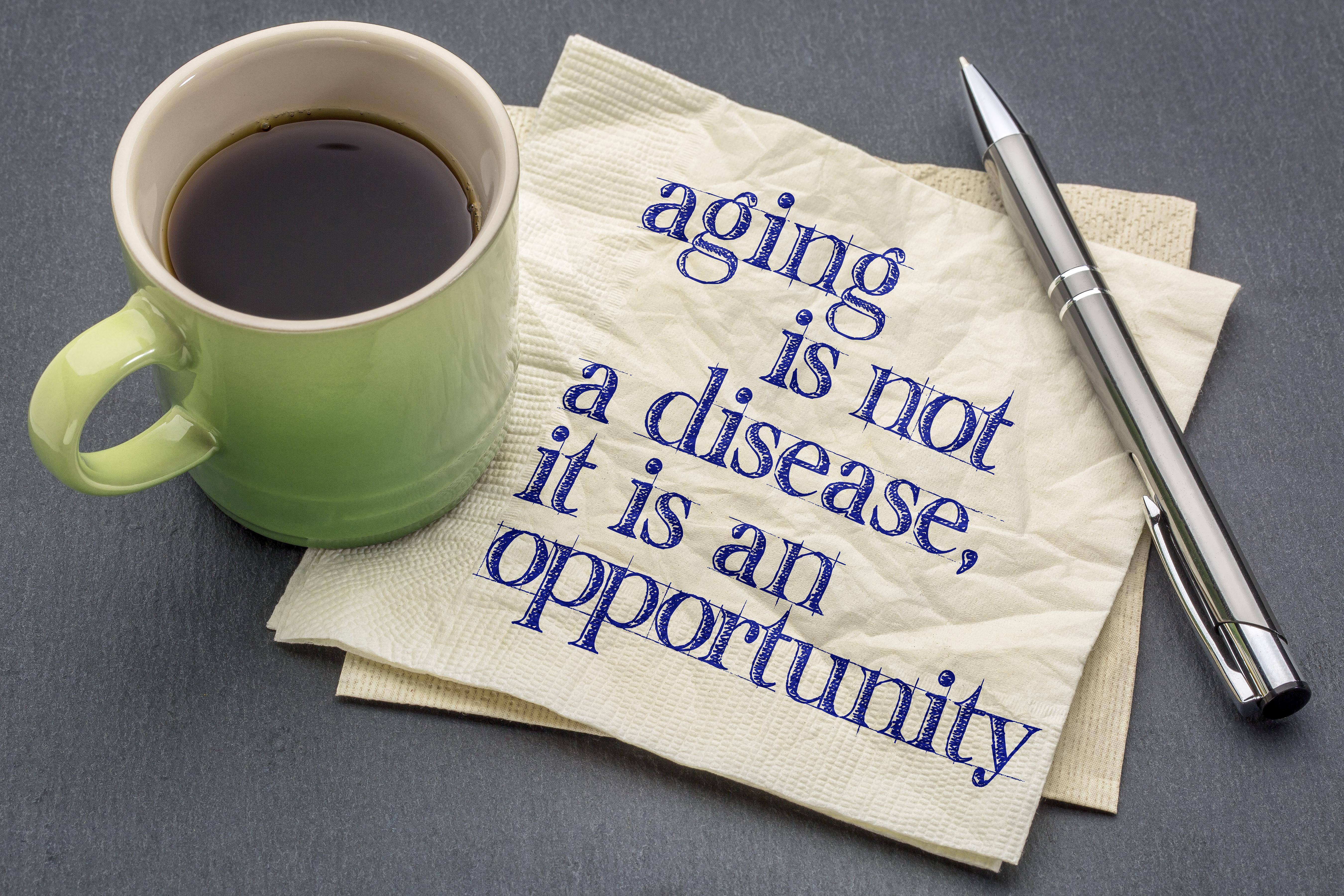 Image of quote regarding aging