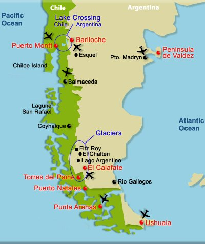 Map Of Southern Chile And Argentina Pictures To Pin On Pinterest - Map argentina national parks