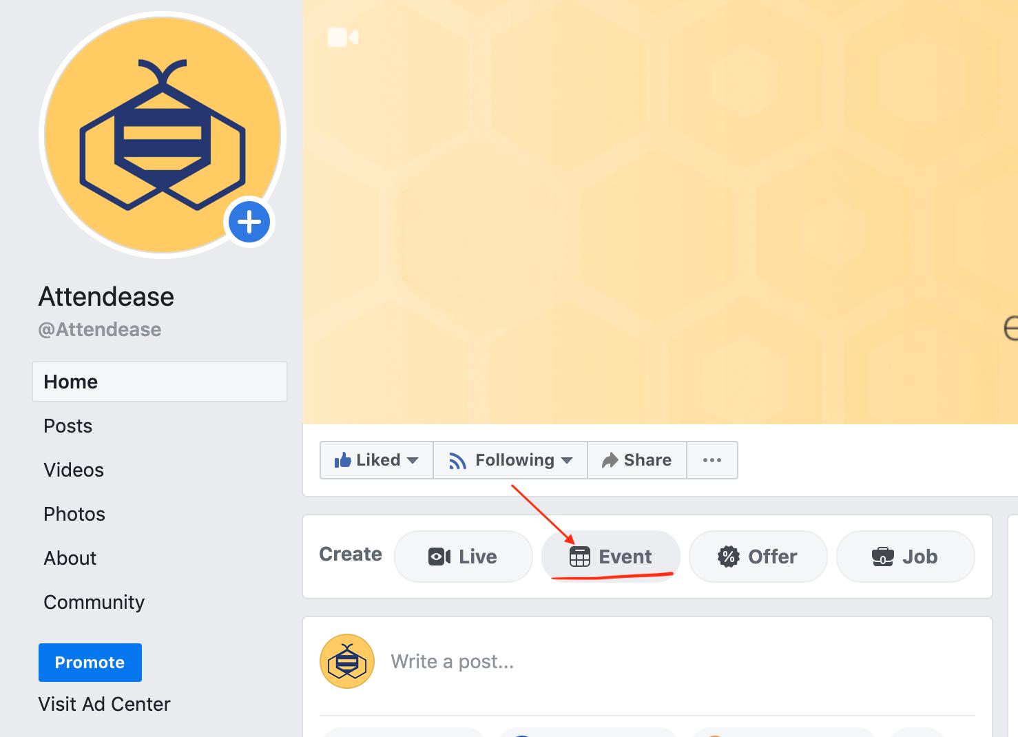 Create Facebook event 1-1