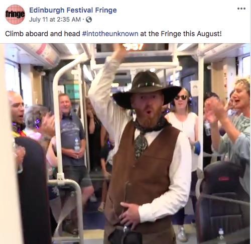 Edinburgh Festival Fringe Facebook post